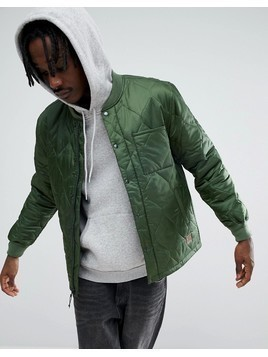 Brixton Crawford Quilted Jacket In Relaxed Fit - Green