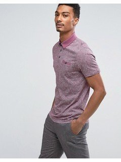 Ted Baker Polo in Print - Purple