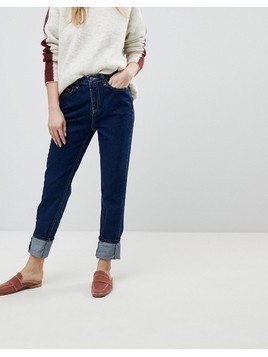 New Look Stonewashed Mom Jean - Blue