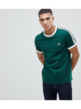 Fred Perry Sports Authentic Taped T-Shirt In Green - Green