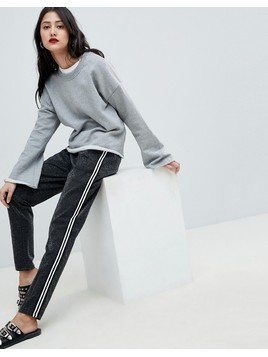 Vero Moda sporty stripe trousers - Silver