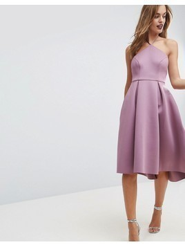 ASOS Halter Neck Prom Midi Dress - Pink