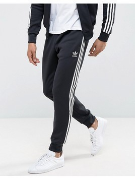 adidas Originals Superstar Cuffed Track Pants In Black AJ6960 - Black