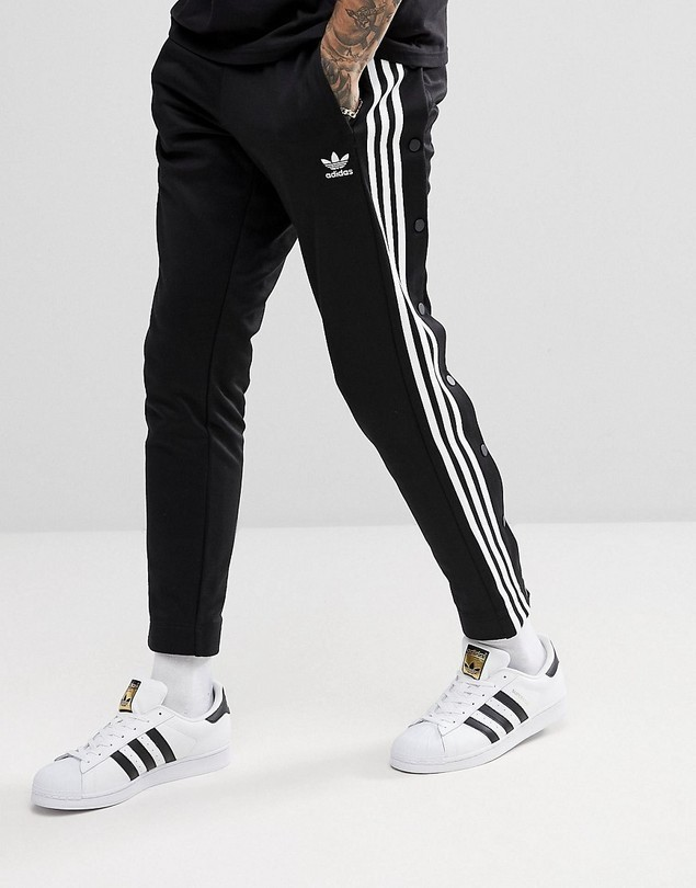 adidas Originals adicolor Popper Joggers In Black CW1283 - Black
