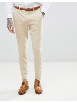 Harry Brown Biscuit Stretch Skinny Fit Suit Trouser - Beige