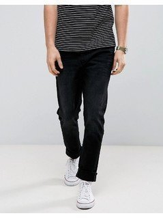 Casual Friday Slim Fit Jeans In Black With Distressing - Black