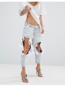 One Teaspoon Kingpins Drop Crotch Boyfriend Jean - Blue