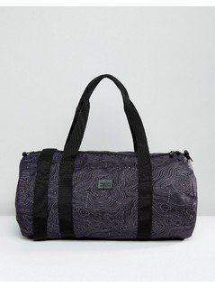 ASOS Barrel Bag With Contour Print In Black - Black