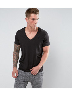 G-Star Raw T-Shirt With V-Neck In 2 Pack Black - Black