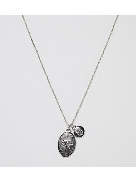 Reclaimed Vintage Inspired Lucky Charm Pendant Necklace In Silver Exclusive To ASOS - Silver