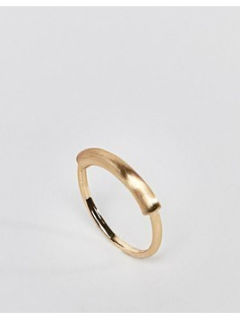 ASOS Sleek Tube Bar Ring - Gold