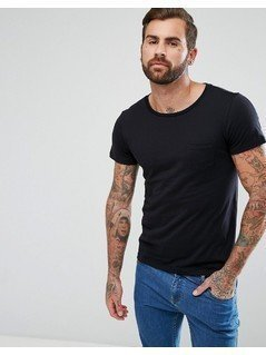 Lee Jeans Pocket T-Shirt with Lower Front Lee Tab - Black