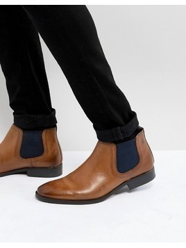 Base London Ramson Leather Chelsea Boots in Tan - Tan
