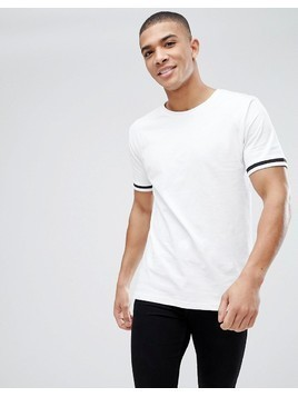 Only&Sons T-Shirt With Cuffed Arm Band - White