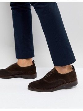 Zign Suede Derby Shoes In Brown - Brown