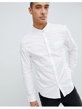 Pier One Button Down Shirt In White - White
