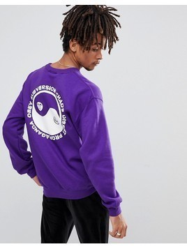 Obey Subversion Sweatshirt With Yin Yang Back Print - Purple