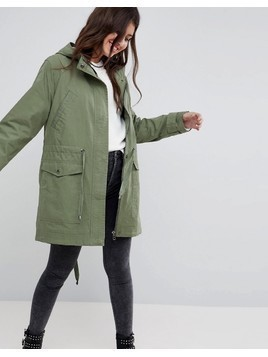 ASOS DESIGN summer parka with jersey lining - Green