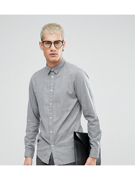 Selected Homme Slim Fit Shirt In Brushed Cotton - Grey