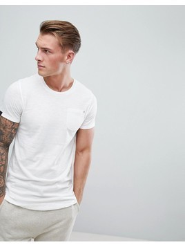 Produkt Longline T-Shirt With Curved Hem - White