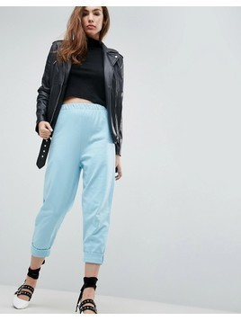 ASOS 80s Jogger with Roller Hem - Blue