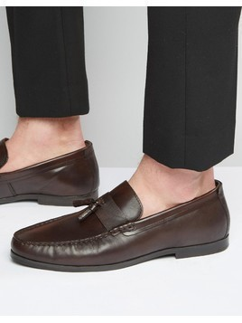 Red Tape Tassel Loafers In Brown Leather - Brown