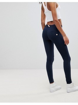 Freddy WR.UP Shaping Effect Mid Rise Snug Stretch Push Up Jegging - Navy