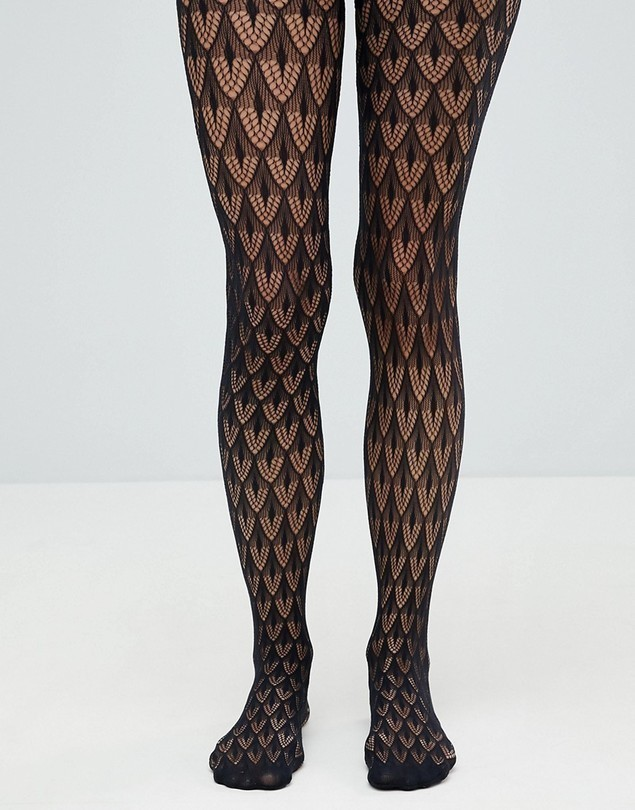 Jonathan Aston Crochet Net Tight - Black