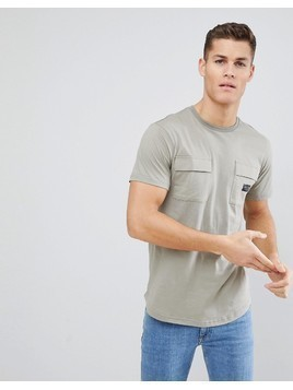 Nicce London T-Shirt With Double Pockets - Green