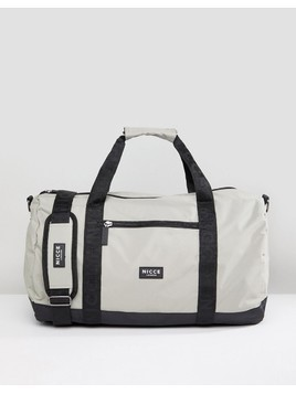 Nicce London Holdall In Grey - Green