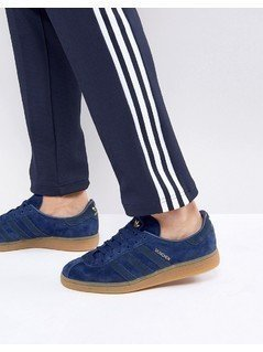 adidas Originals Munchen Trainers In Blue - Blue