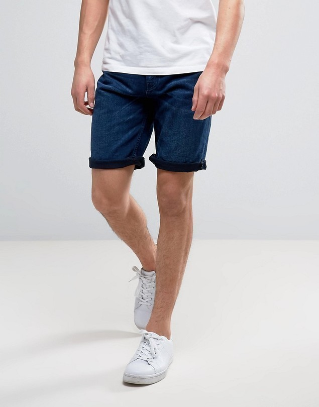 Celio Denim Shorts - Blue