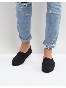 TOMS Classic Canvas Espadrilles In All Black - Black