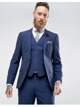 Harry Brown Blue Tonic Suit Jacket - Blue