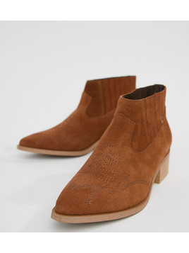 Vero Moda Leather Boot - Tan