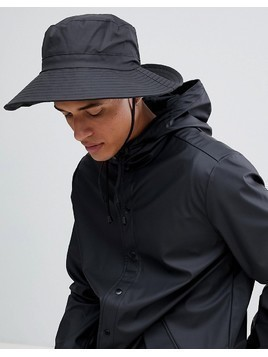 Rains Boonie Bucket Hat In Black - Black