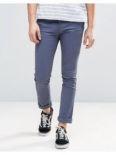 New Look Skinny Fit Chinos In Blue - Blue