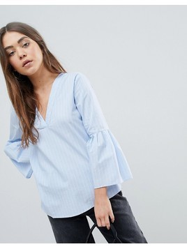 JDY Stella Flared Sleev Blouse - Blue