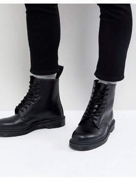 Dr Martens 1460 Mono 8-Eye Boots In Black - Black