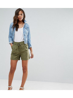 Vero Moda Tall D Ring Cargo Shorts - Green