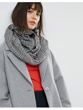 ASOS Woven Check Snood With Zip and Ring Pull - Multi