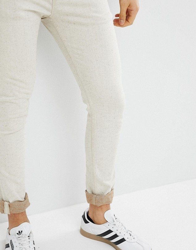 ASOS DESIGN Super Skinny Jeans In Ecru - White