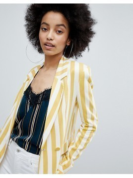 Bershka bold blazer in multi stripe - Multi