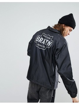 Brixton Garth Coach Jacket With Sherpa Lining - Black