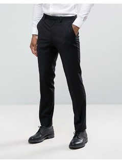 Burton Menswear Slim Tuxedo Trouser in Black Texture - Black