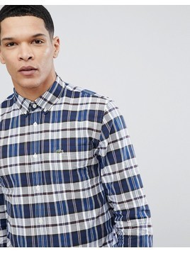Lacoste Check Logo Shirt in Navy - Navy