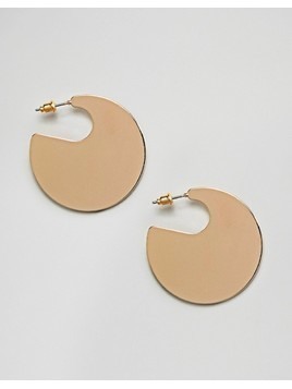 ASOS DESIGN Solid Circle Hoop Earrings - Gold