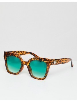 Jeepers Peepers Cat Eye Sunglasses In Tort - Brown