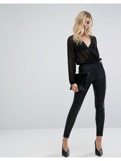 Selected Leather Legging - Black