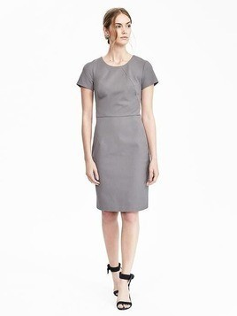Banana Republic Bi Stretch Dress - Gray